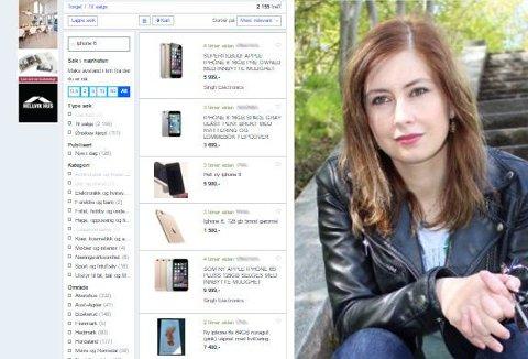 SVINDLET: Julianna Weber ble lurt da hun skulle selge sin mobiltelefon på Finn.no. Hun var langt fra den eneste som er blitt kontaktet av svindleren.