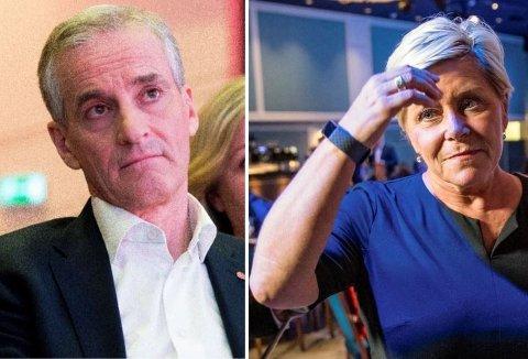 Partilederne Jonas Gahr Støre (Ap) og Siv Jensen (Frp) er omgitt av et stort antall rådgivere i regjeringsapparatet, på Stortinget og på partikontorene. Mange har egeninteresse i rådene de gir.