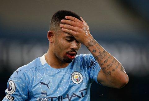 Manchester City-stjernen Gabriel Jesus er blant de 18 smittetilfellene i Premier League de siste dagene. Foto: Clive Brunskill / AP / NTB