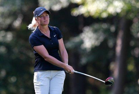 TAPER TERRENG: Suzann Pettersen ramlet ned fem plasser i LPGA-turneringen i Alabama.