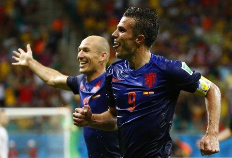 SUPERDUP. Arjen Robben og Robin van Persie storspilte mot Spania.