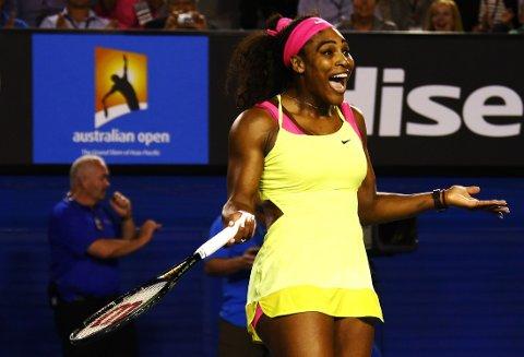 ENDA EN GANG: Det er fem år siden forrige Australian Open-seier, men lørdagens finale mot Maria Sjarapova ga Serena Williams en ny triumf.