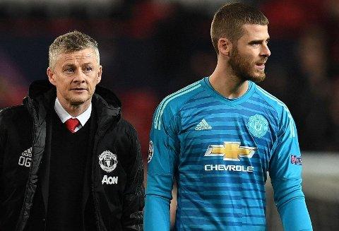 SKILLES? Manchester United og manager Ole Gunnar Solskjær ser ut til å slite med å beholde keeperprofilen David de Gea etter inneværende sesong.