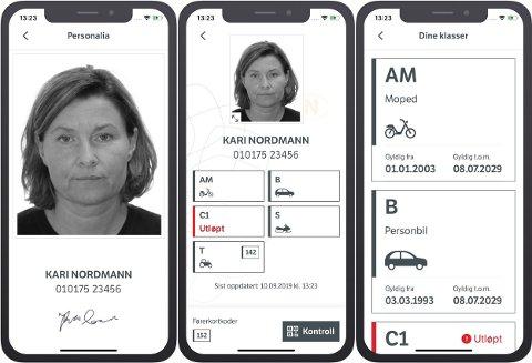 - ELLEVILT: Den nye appen som lar deg ha førerkortet digitalt på mobilen er en stor suksess, sier Statens vegvesen. Foto: Statens vegvesen
