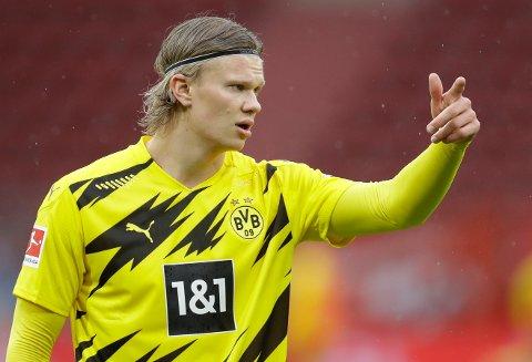 STARTER: Erling Braut Haaland starter på topp i serieavslutningen mot Bayer Leverkusen.