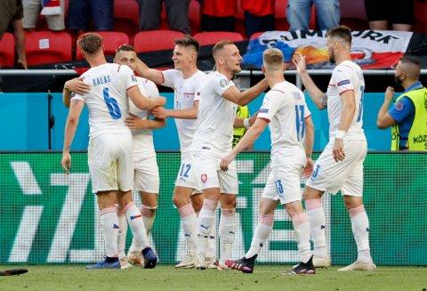 TIL KVARTFINALE: Tsjekkia er noe overraskende klare for kvartfinale i EM etter seieren over Nederland.