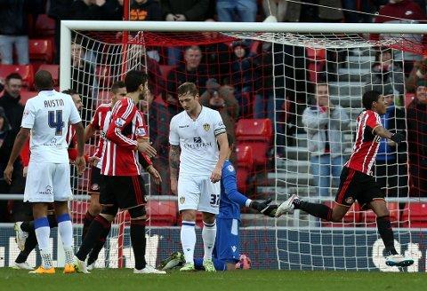 MÅL: Patrick van Aanholt scoret i FA-cupens tredje runde mot Leeds United.