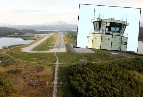 MÅTTE SNU: Det var ingen i tårnet på Harstad/Narvik lufthavn Evenes, Dermed måtte flyet snu.