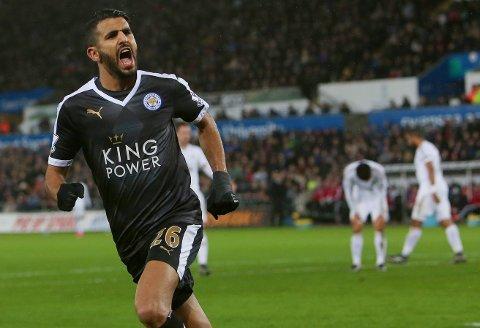 MOTBEVISTE SKEPTIKERNE: Riyad Mahrez har storspilt for Leicester denne sesongen.
