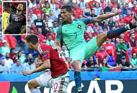 FIKSET? Var det avgjørende oppgjøret mellom Ungarn og Portugal avtalt spill? Det mener i alle fall Albanias Mërgim Mavraj (innfelt).
