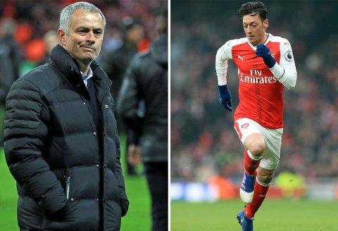 IKKE BARE ROSENRØDT: Forholdet mellom José Mourinho og Mesut Özil var ikke alltid det beste da de jobbet sammen i Real Madrid.
