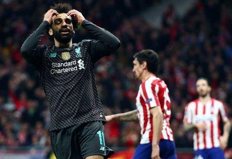 KOM BAKPÅ: Mohamed Salah og Liverpool fikk en vrien start på åttedelsfinalene mot gjerrige Atlético Madrid. Det stemte heller ikke særlig godt i angrep for gjestene.