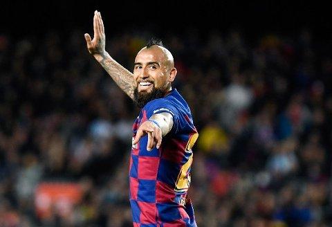 TIL ENGLAND? Barcelona-stjernen Arturo Vidal viser interesse for å komme til Premier League.