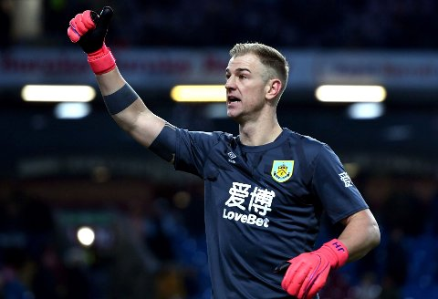 TIL SPURS: Joe Hart. Her i aksjon for Burnley forrige sesong.