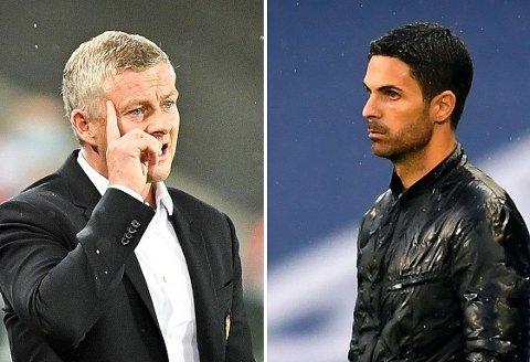 SNYTT? Manchester United og Ole Gunnar Solskjær kan ha fått en ny tankevekker. Arsenal og kollega Mikel Arteta ser ut til å ha vunnet en pågående drakamp mellom klubbene.