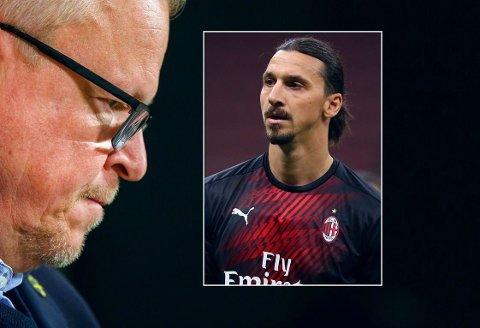 FÅR HØRE DET: Janne Andersson og den svenske landslagsledelsen står ikke høyt i kurs hos Zlatan Ibrahimovic (innfelt).