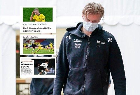 USIKKERHET: Tyske medier er i tvil om Erling Braut Haaland kan spille i Bundesliga før den ti dager lange karantenen fra norske myndigheter er over.