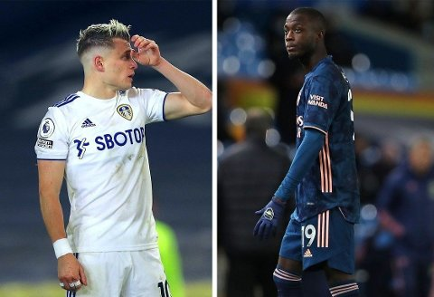 OFRE: Både Leeds-spiller Ezgjan Alioski og Arsenals Nicolas Pépé har fått gjennomgå av ufine meldinger etter søndagens Premier League-oppgjør