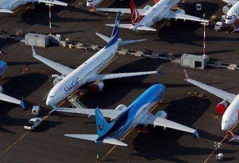 NYE PROBLEMER: Skandaleflyet, her parkert i Seattle 11. juni 2020, opplevde motorproblemer på en nylig flygning.