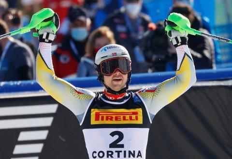 FERSK VERDENSMESTER: Sebastian Foss Solevåg var sterkest og gikk helt til topps i søndagens VM-slalåm.