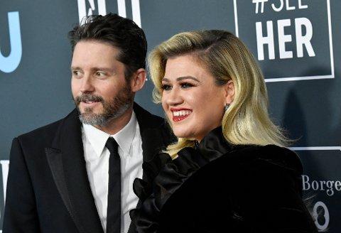 EKSPAR: Kelly Clarkson og Brandon Blackstock da de fortsatt var sammen.