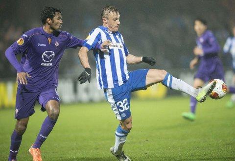 SCORET: Martin Pusic scoret for Esbjerg mot Fiorentina.