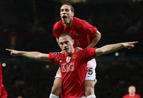 ÅTTE ÅR MED SUKSESS: Både Rio Ferdinand og Nemanja Vidic forlater Manchester United i sommer.