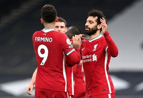 KOMMER INN: Roberto Firmino kommer inn for Liverpool. Sadio Mané er på benken.