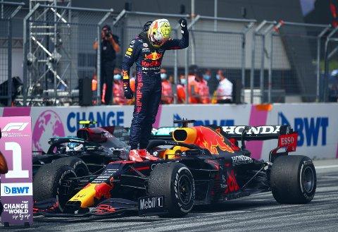 KLAR BESTEMANN: Max Verstappen kunne feire enda en seier i Østerrike søndag.