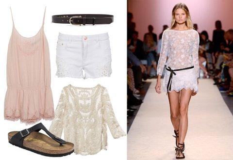 La deg inspirere av Isabel Marant og gå sommeren i møte med lekre blonder, svart skinn og korte shorts.