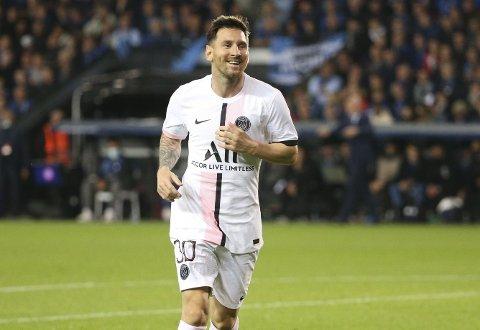 Den største stjernen på fotballhimmelen: Lionel Messi i Champions League-kampen borte mot Brugge 15.september