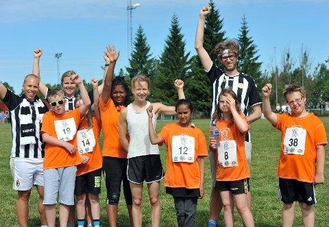 Barn og unge i Sagene IFs treningsgruppe trives med aktiviteten i klubben.