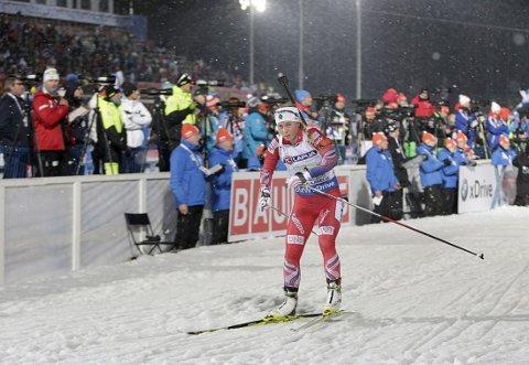 TØFFE FORHOLD: Tiril Eckhoff sier hun var glad for å komme til mål.