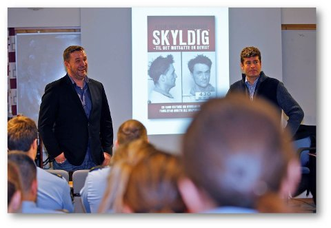 Politietterforsker Ole Jakob Øglænd hadde mot til å stå fram og snakke om den største feilen i sin karriere. Det kommer ikke fram i Nettavisens artikkel, skriver innsenderen. Stein Inge Johannessen til venstre.