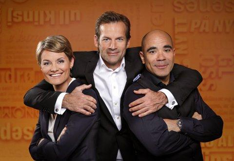 «BLÅ» GJESTER: Pernille Sørensen, Johan Golden og Jon Almaas har, ifølge kringkastingssjef Thor Gjermund Eriksen, flere gjester fra høyresiden enn venstre.