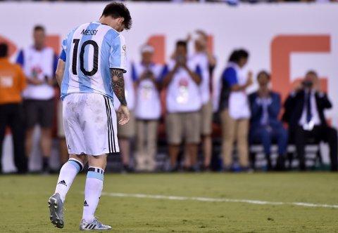 SLÅTT OG SLUTT : Lionel Messi gikk av banen i New York med bøyd hode da Argentina nok en gang kom til kort i en stor finale.