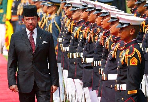 Brunei, med sultanHassanal Bolkiah, var det første landet som innførte sharialover i 2014.