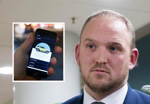 KNUSER MONOPOLET: Samferdselsminister Jon Georg Dale (Frp) vil stille krav om norskregistrert virksomhet for å få drosjeløyve. Det betyr bare små tilpasninger for delingstjenester som Lyft og Uber.