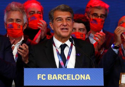 Barcelona-president Joan Laporta er ikke klar for å gi opp superligaprosjektet. Foto: Joan Monfort / AP / NTB