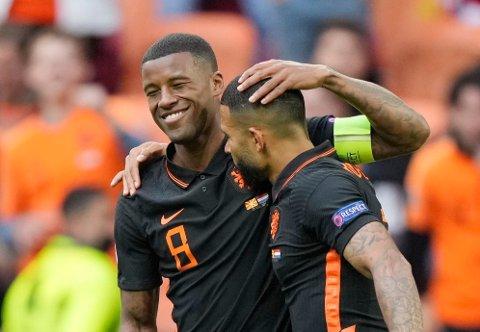 KLARE FOR KAMP: Kan Georginio Wijnaldum og Memphis Depay skyte Nederland til åttedelsfinale?