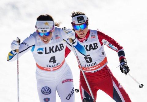 NY SPONSOR: Fra og med denne sesongen skal svenske Charlotte Kalla og de øvrige svenskene gå med McDonalds-logoen på skidressen.