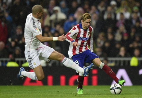SCORET TO: Fernando Torres storspilte mot Real Madrid.