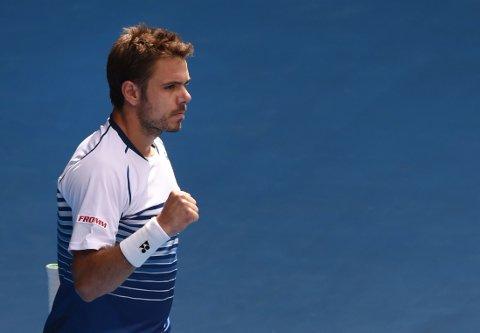 VIDERE: Stan Wawrinka tok seg videre i Australian Open.