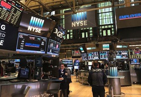 Enn så lenge blåser markedene av den mye omtalte handelskrigen mellom USA og Kina. Illustrasjonsofoto: New York Stock Exchange.