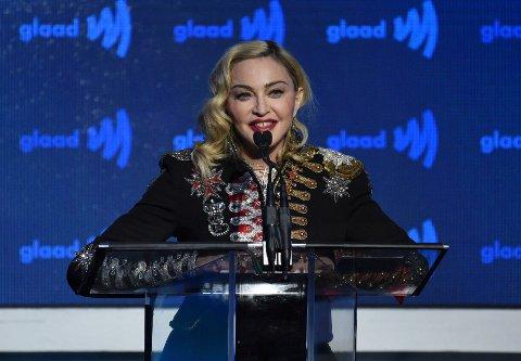 Madonna under en prisutdeling i New York tidligere denne måneden. Foto: Evan Agostini / Invision / AP / NTB scanpix