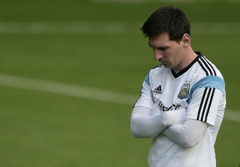 IKKE PÅ SITT BESTE: Lionel Messi har bidratt med noen mål og målgivende, men ikke så veldig mye mer i VM.