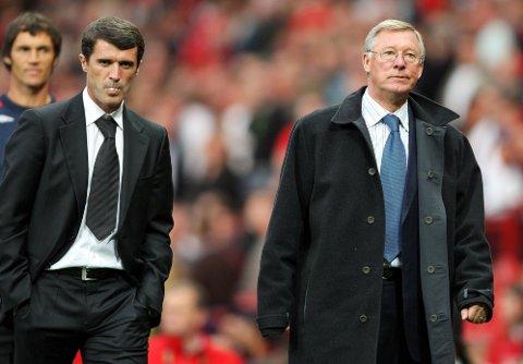 UVENNER: Roy Keane (venstre) gleder seg til å skjelle ut sin tidligere manager i Manchester United, Alex Ferguson.