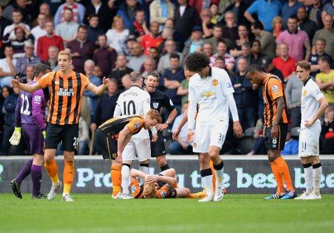 POENGDELING: Manchester United avsluttet sesongen med 0-0 borte mot Hull. Det betyr fjerdeplass for Louis van Gaals menn, mens Hull rykker ned til Championship.