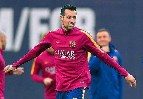 HØYT VERDSATT: Å skille lag med katalanske Sergio Busquets virker ikke å være et tema for klubbledelsen i Barcelona.