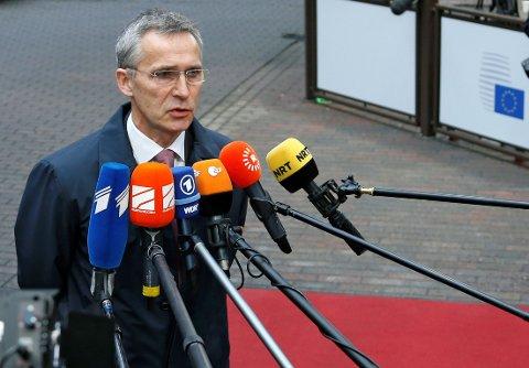 NATOs generalsekretær Jens Stoltenberg deltok tirsdag på EUs forsvarsministermøte i Brussel.